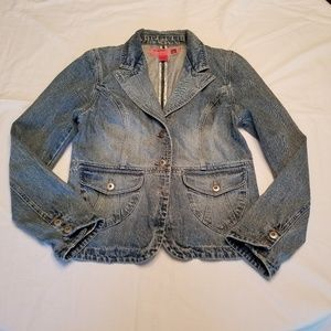 Mossamo Jean Jacket Mossissue Distressed Size L